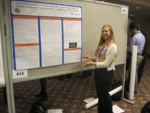 Alana Freedland presenting her poster